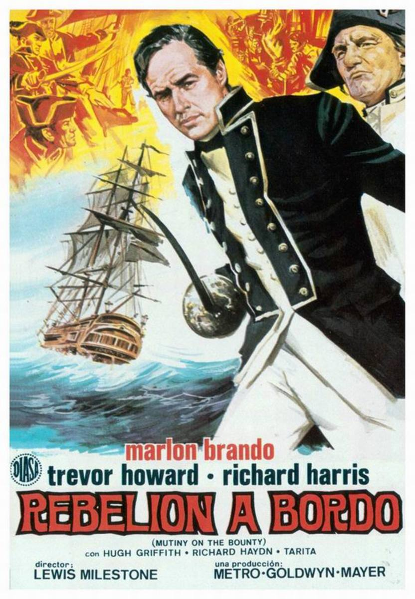 Mutiny on the Bounty (1962) Spanish poster