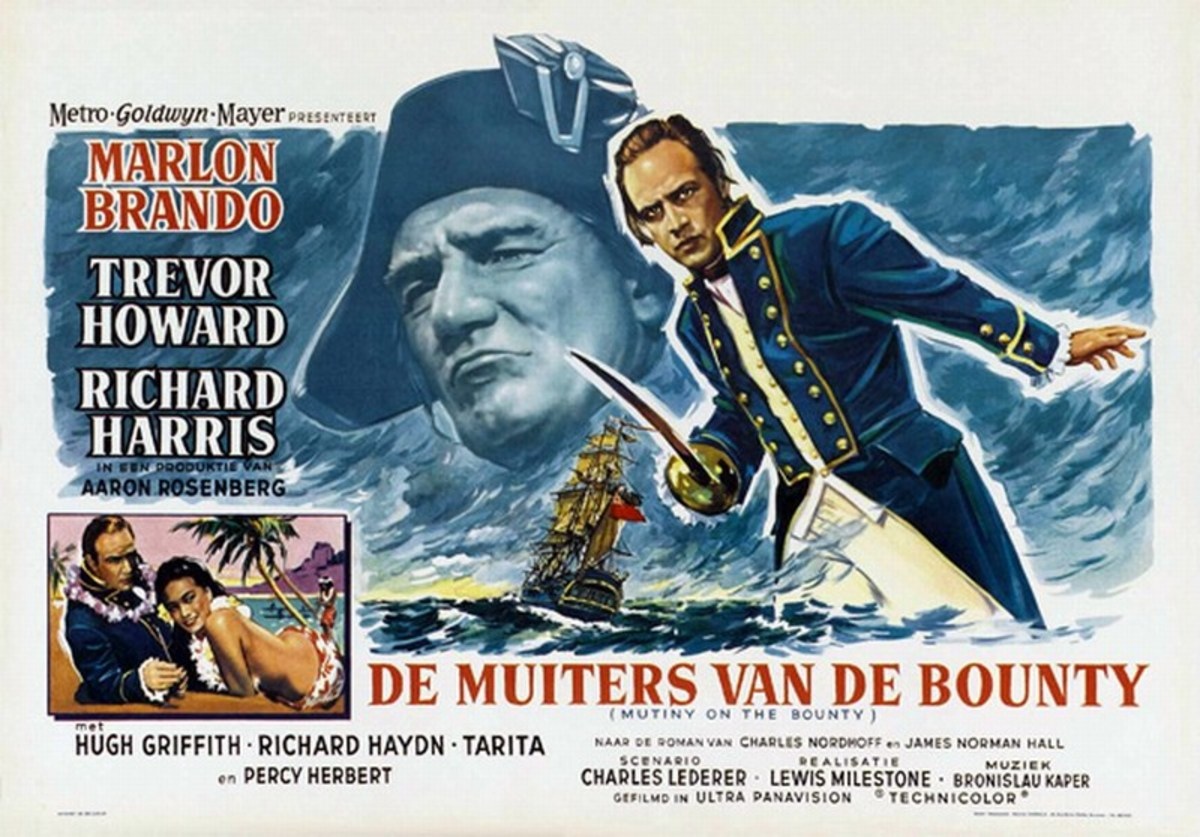 Mutiny on the Bounty (1962) Dutch poster