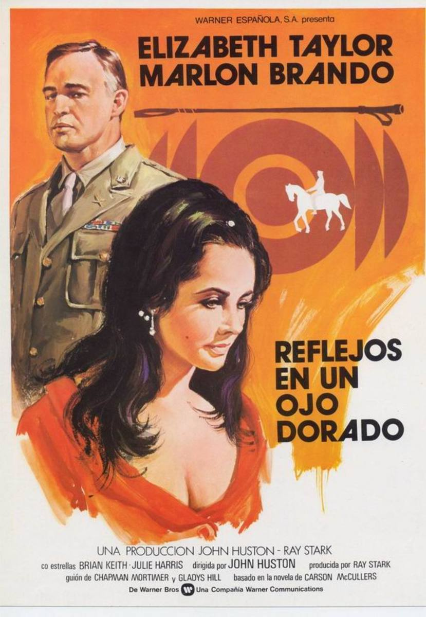 Reflections in a Golden Eye (1967) Spanish poster