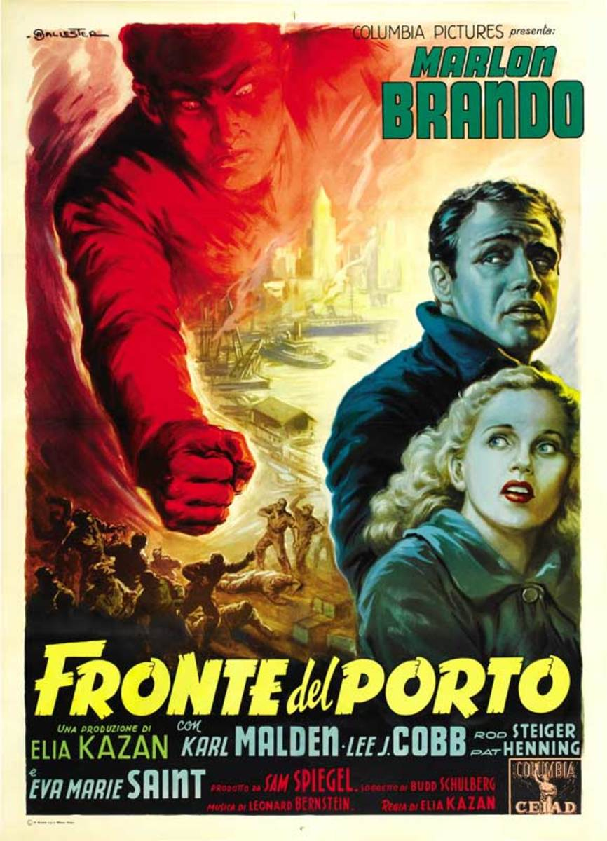 On the Waterfront (1954) Italian poster