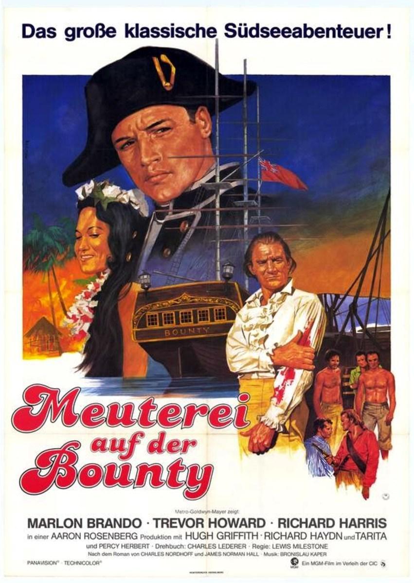 mutiny on the bounty 1962 german poster