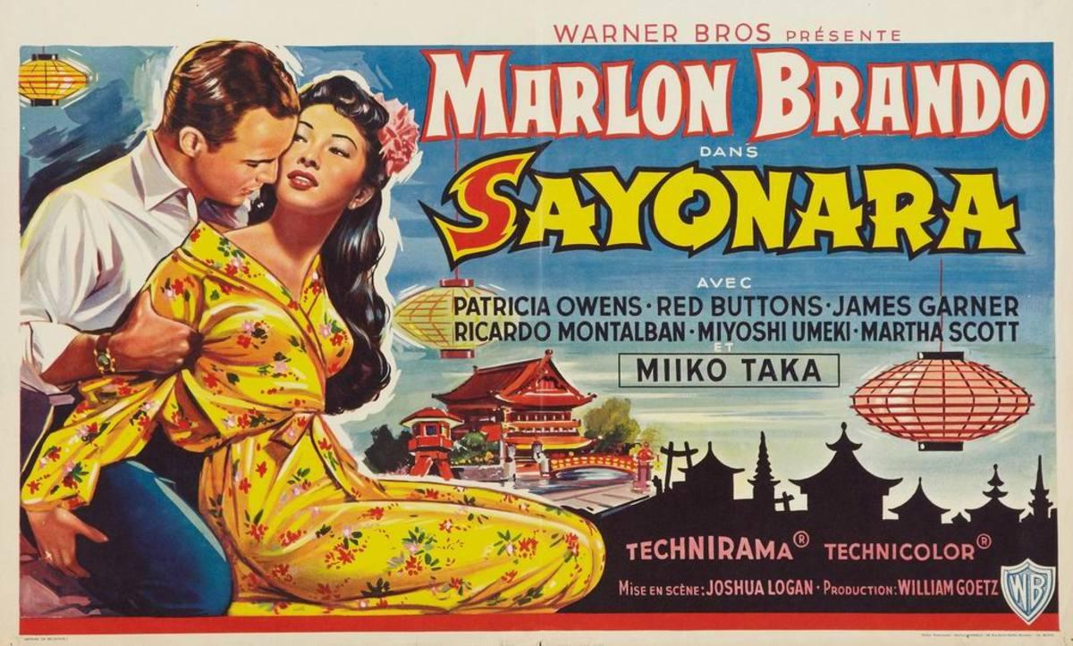 Sayonara (1957) Belgian poster