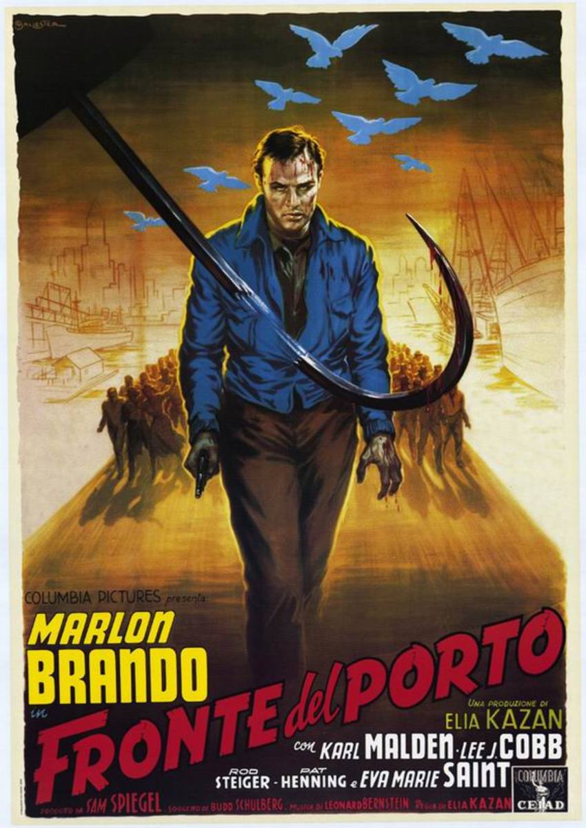 On the Waterfront (1953) Italian poster