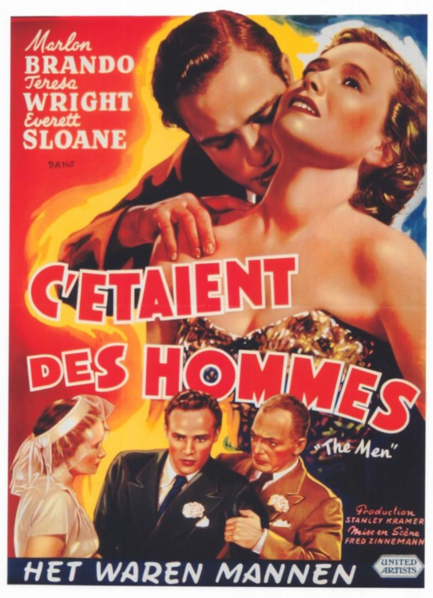The Men (1950) Belgian poster