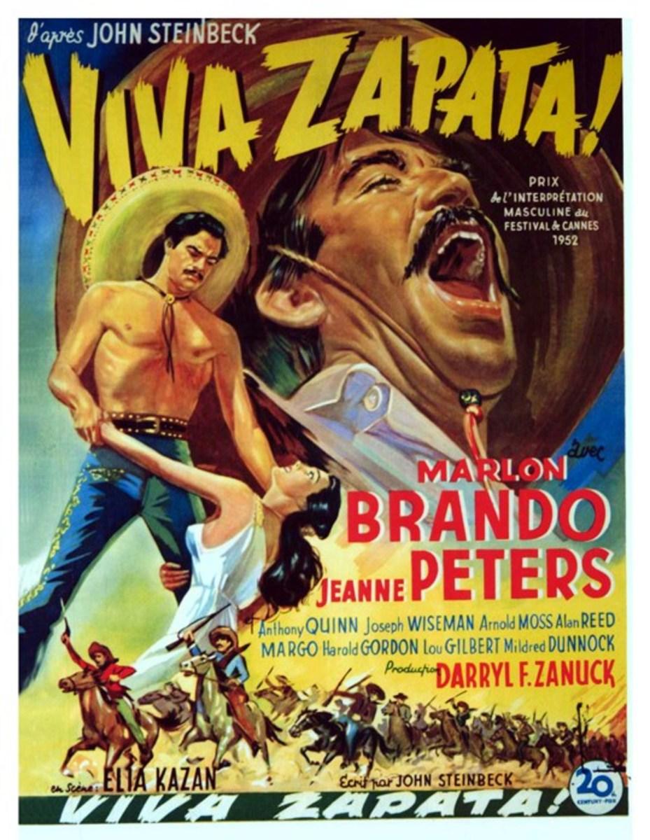 Viva Zapata! (1952) Belgian poster