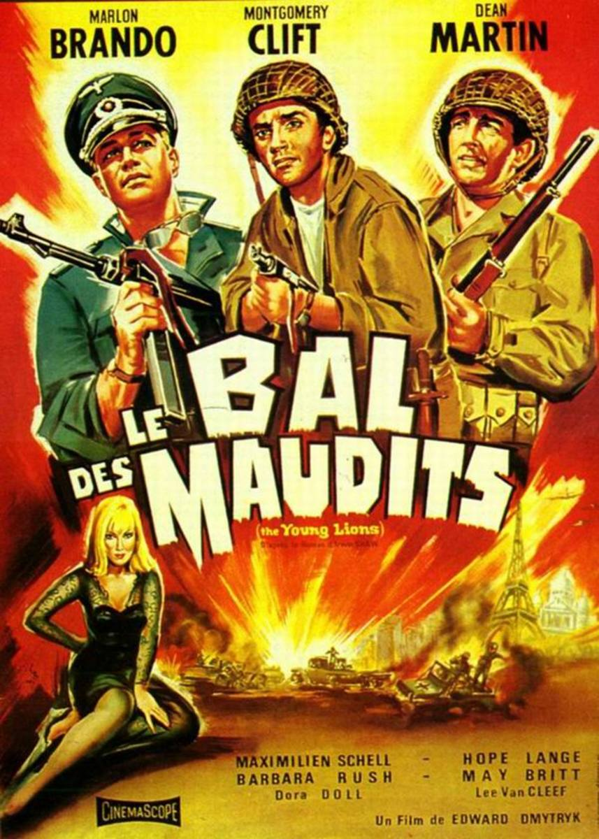 The Young Lions (1958) French poster