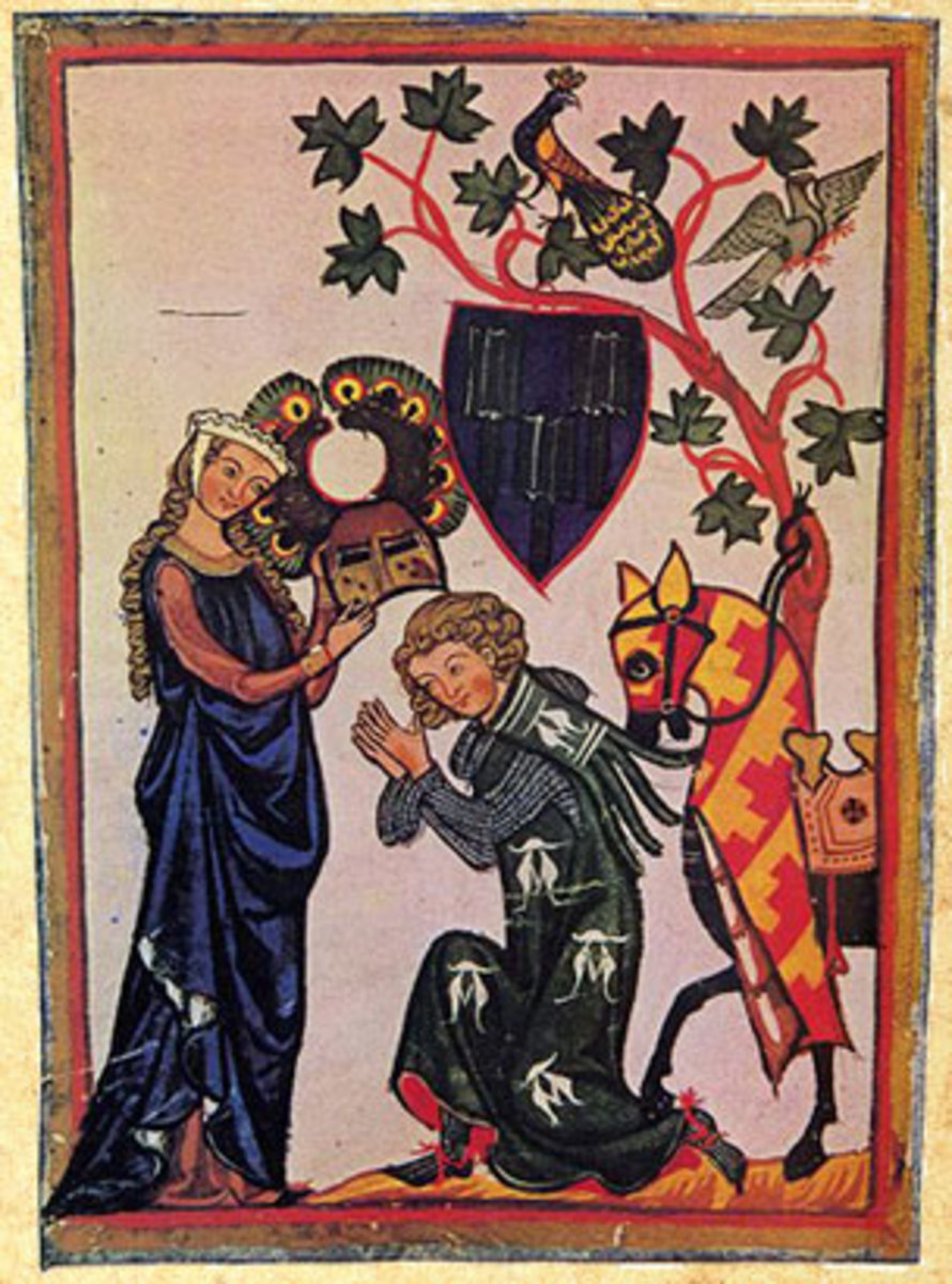 """""""Courtly Love"""" evolved in the middle ages, although it should be noted that real cases of adultery were far less romantic - often ending in the good old fashioned stoning death of the woman."""