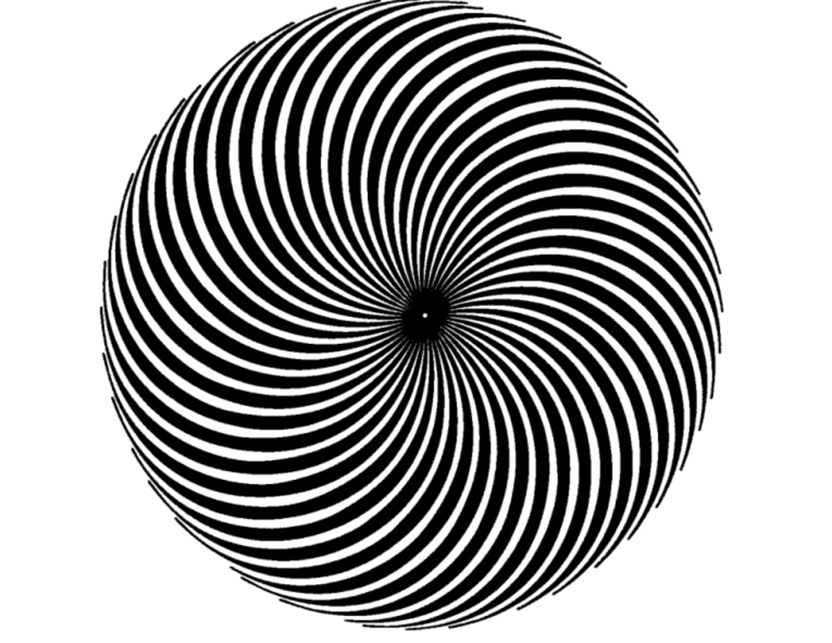 Stare at the magic circle, you can see it moving