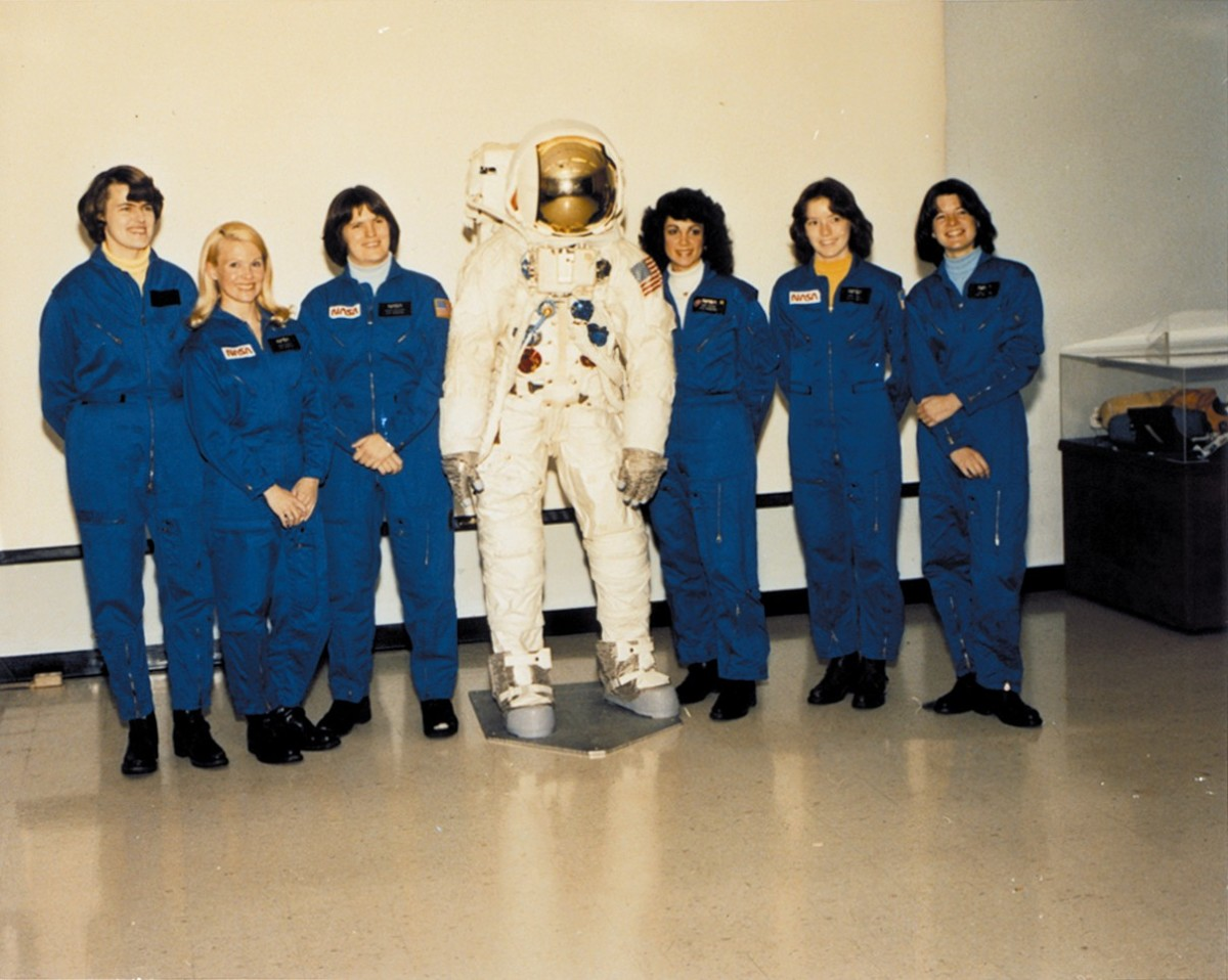 NASA's First Class of Female Astronauts including Sally Ride (far right)