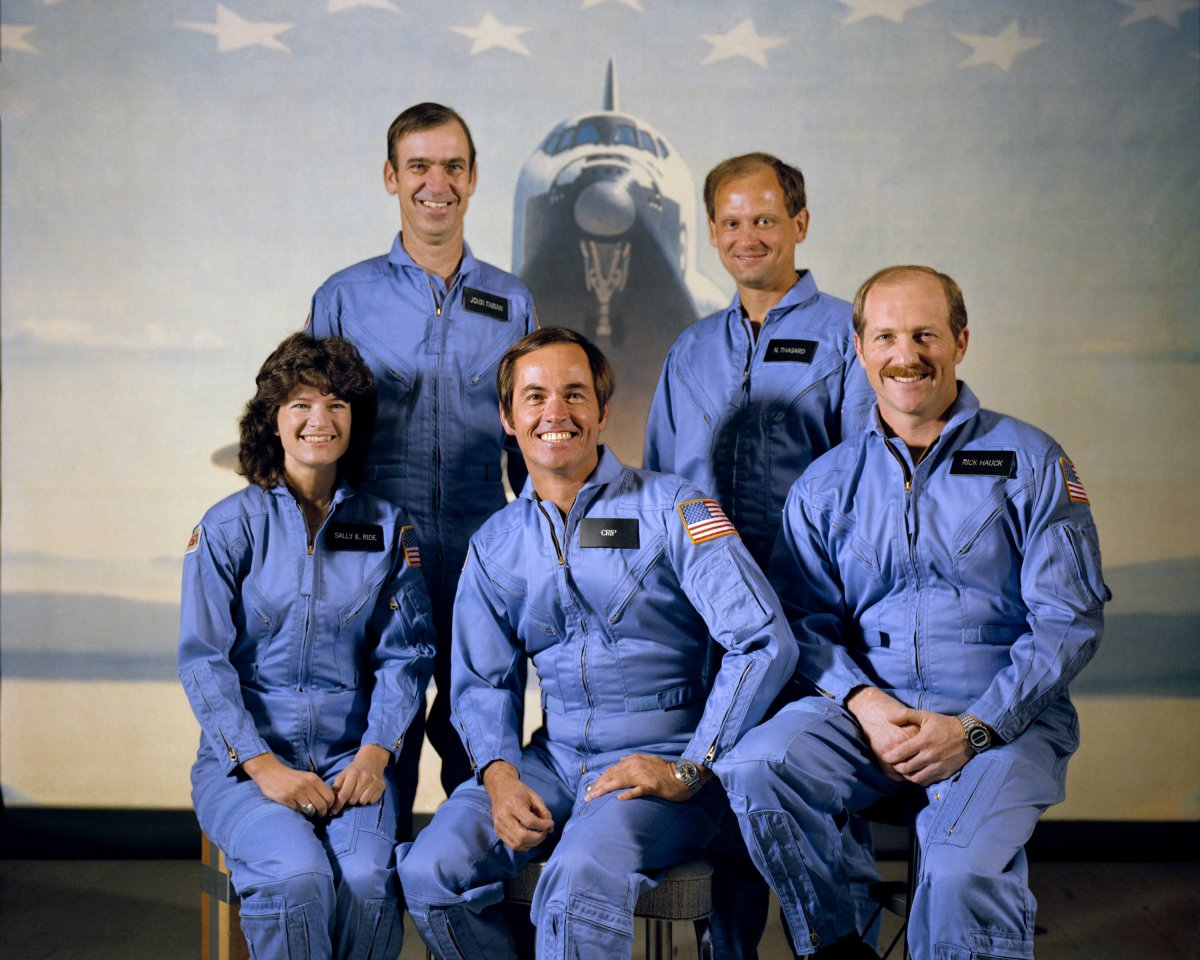 The crew of STS-7, 1983