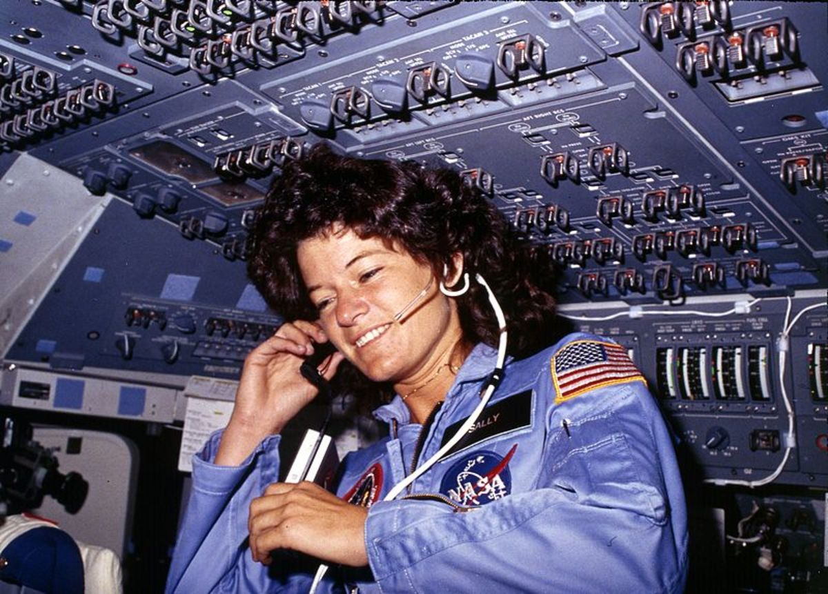 Sally Ride aboard Challenger, 1983.
