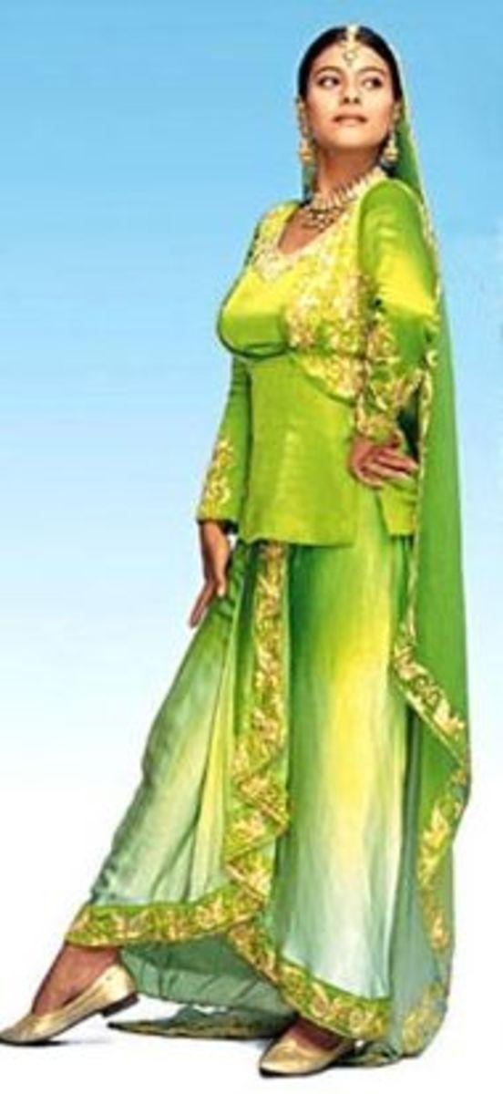 Kajol as Simran in Dilwale Dulhania le Jayenge
