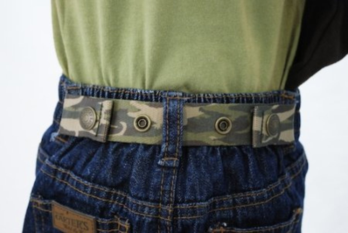 Baby & Toddler Adjustable Belt (30 patterns and solids) One size adjusts to fit age 9 months to 5 years old.