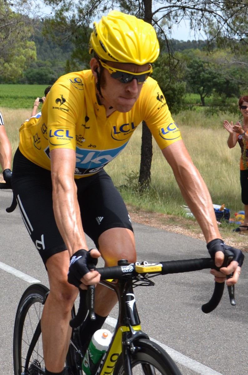 Bradley Wiggins during Stage 13 of the 2012 Tour de France.