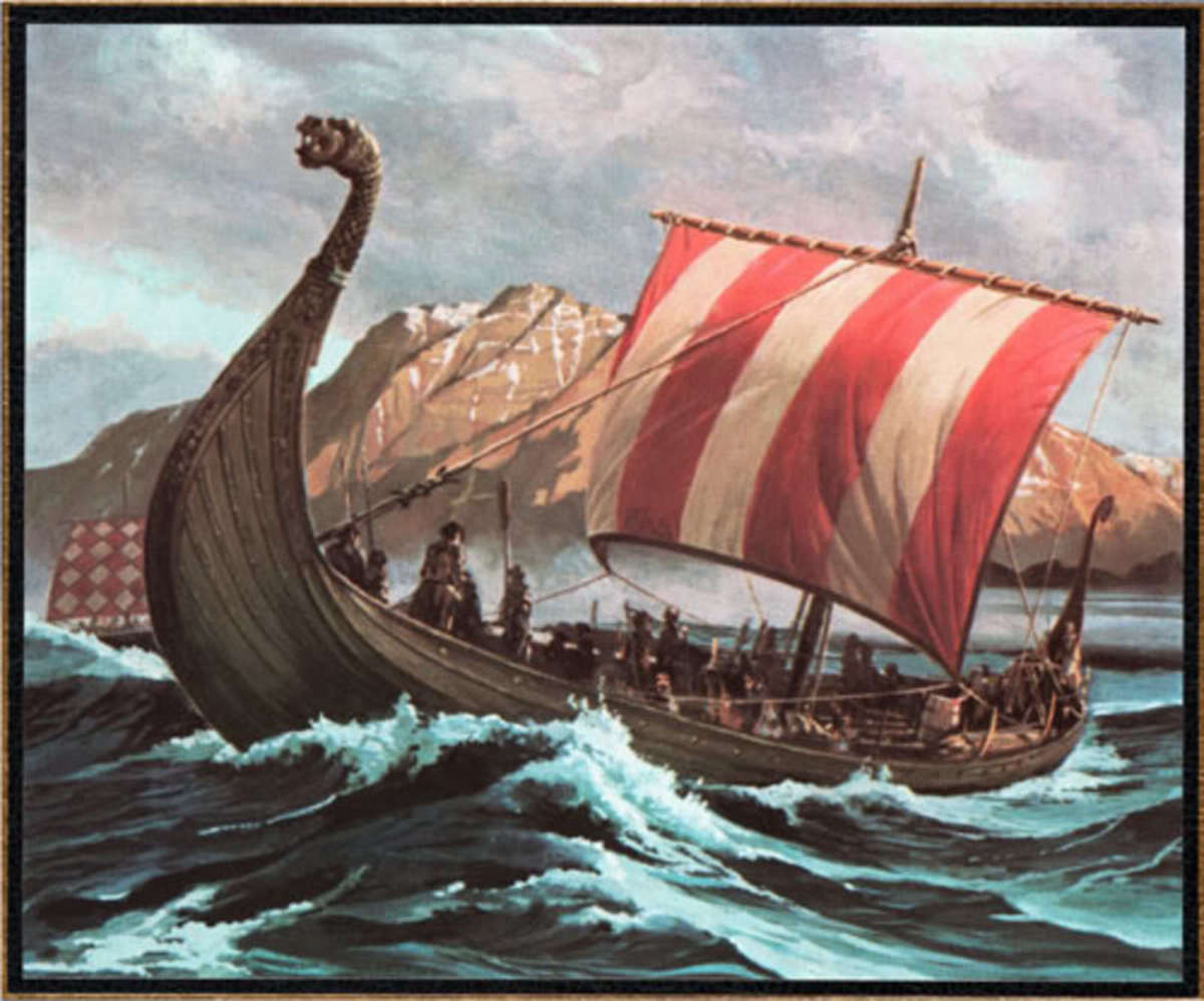 Viking ships! - Beware the sight of sails in the morning, go hide and hope against hope you're not found because not long after you see them...
