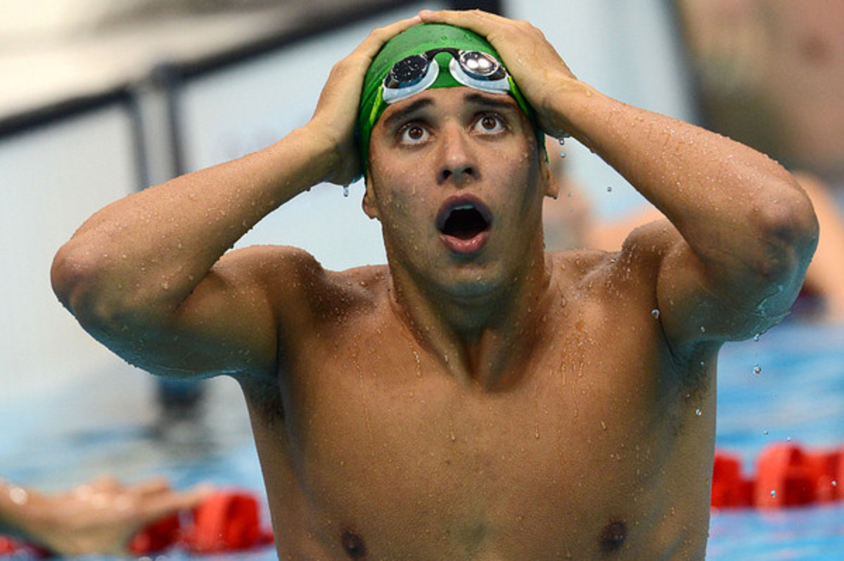 South African swimmer Chad Le Clos was surprised as everyone else when he defeated Michael Phelps in the Men's 200 Butterfly at the 2012 Olympic Games