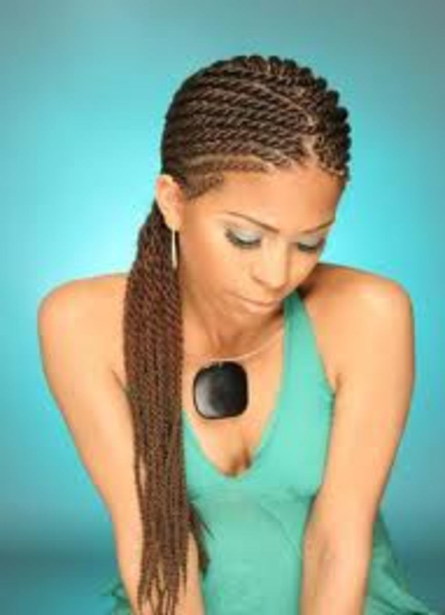 Flat Twist Cornrow Extensions