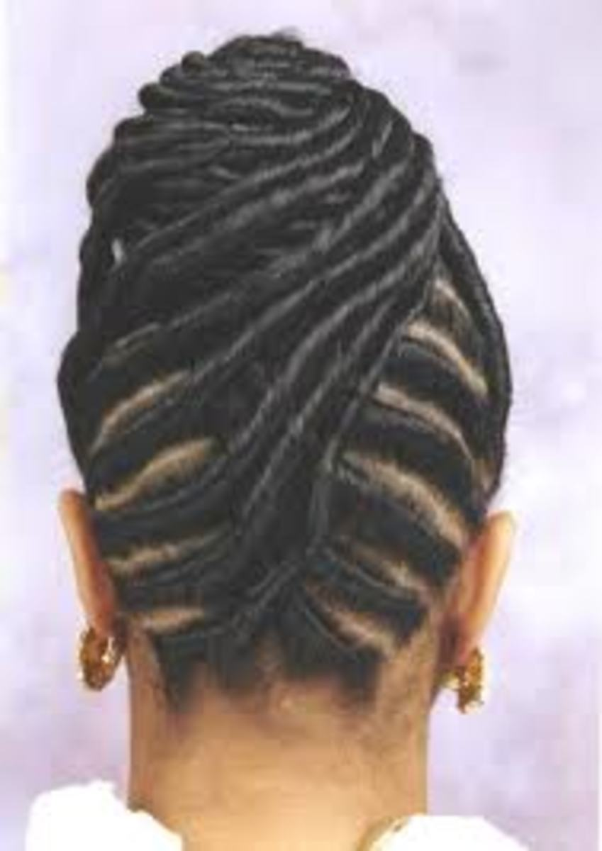 Flat Twist in a Bun