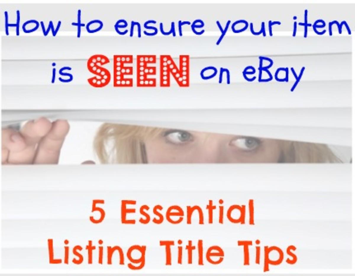 eBay listing title tips