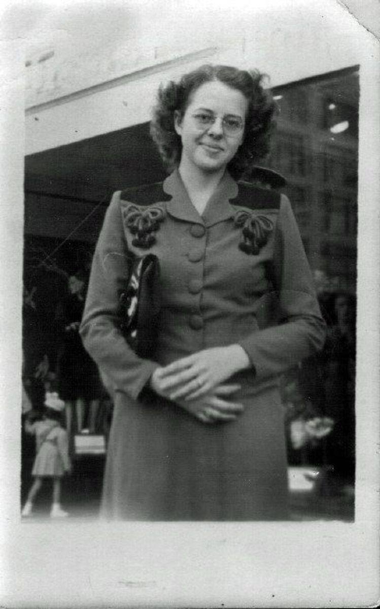 Gail Lee Martin in the 1940s.