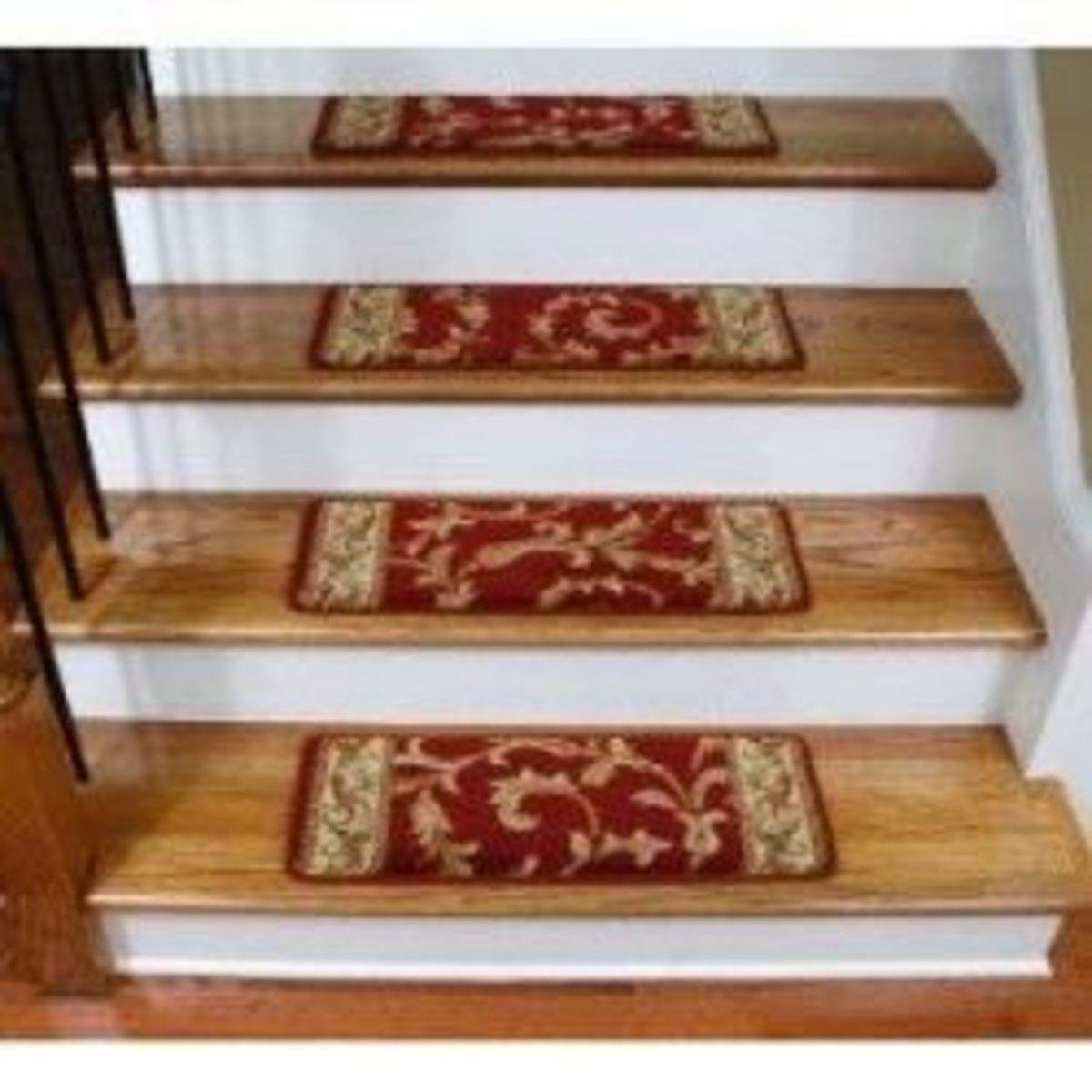 Premium Carpet Stair Treads - Red Scrollworks