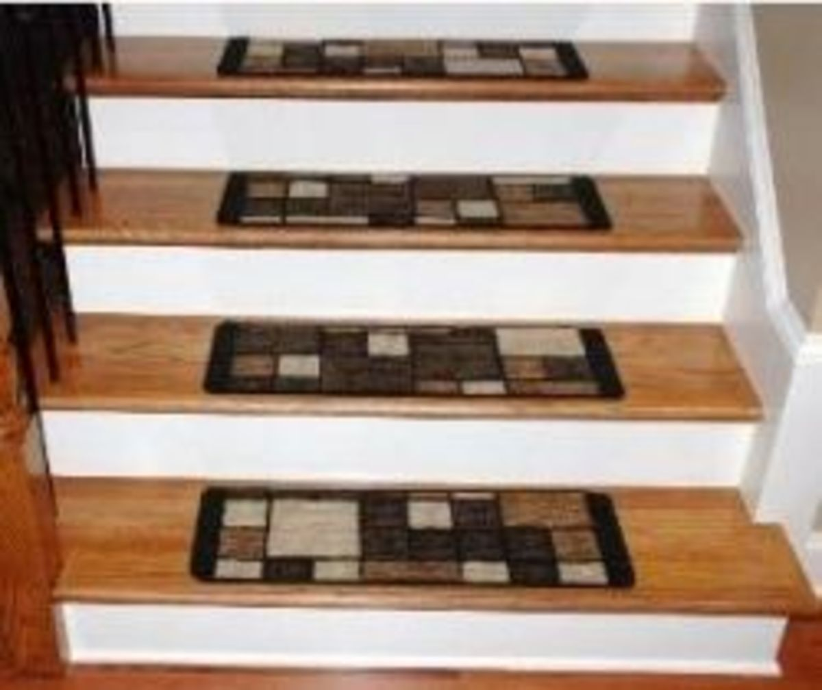 Washable Carpet Stair Treads - Hopscotch Chocolate