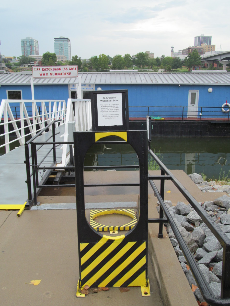 Before a visitor takes the submarine tour, they probably want to try these door way frames out. Just saying