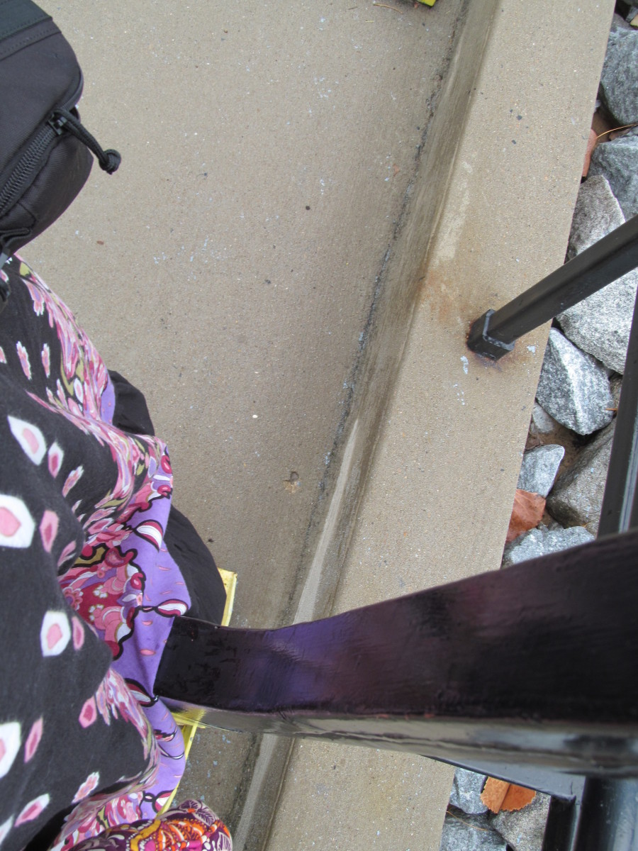 "Skirt slowly makes it through the ""test"" submarine doorway. So far, so good."