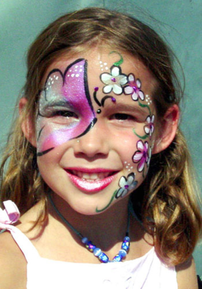 Flower Face Painting for Children: Designs, Tips and ...