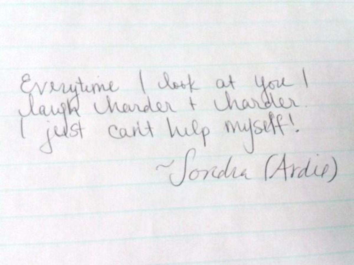 What does Ardie's handwriting reveal?