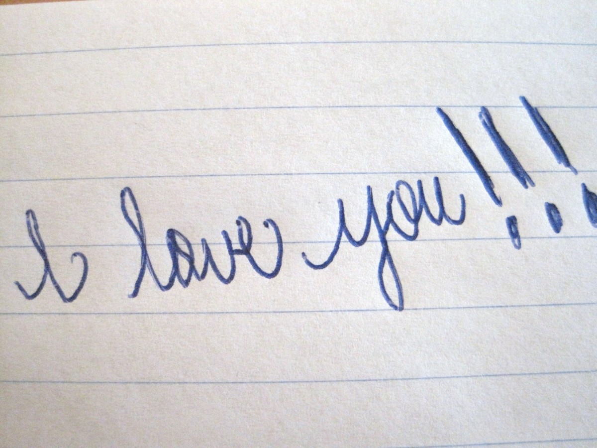If you get a love letter like this, don't walk away. RUN!