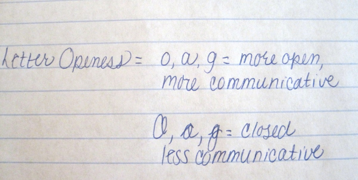 Check o's and a's to get an idea of how a person will communicate.