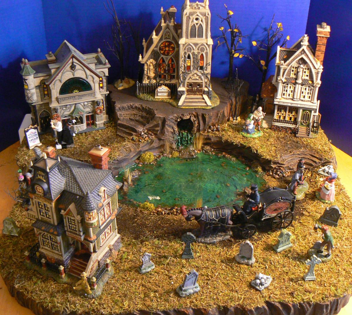 Halloween Village Display