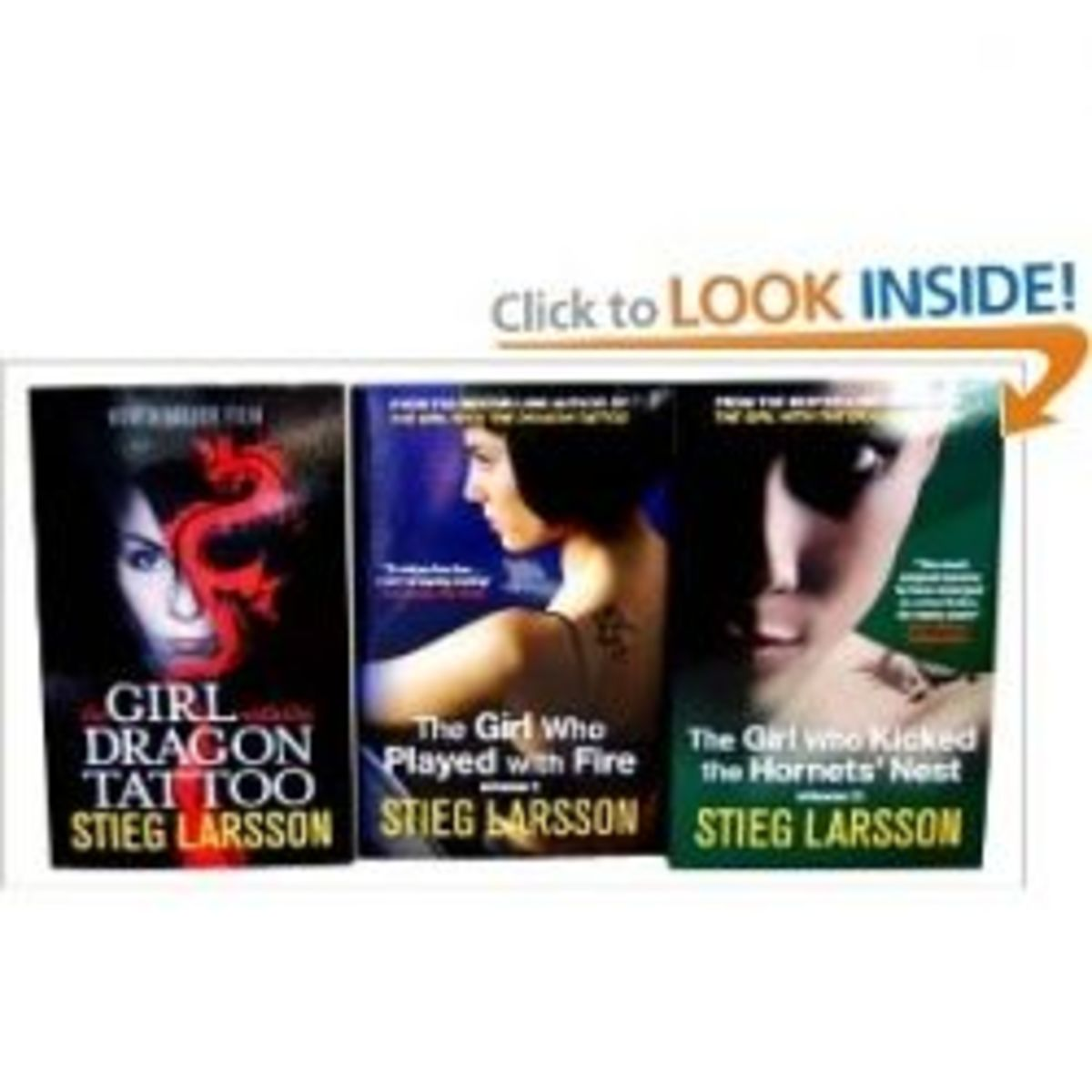 Meet Lisbeth Salander And Mikael Blomkvist in the Millennium Trilogy by Stieg Larsson.  The Girl With The Dragon Tattoo, The Girl Who Played With Fire, and The Girl Who Kicked The Hornet's Nest - Photo Credit Amazon.