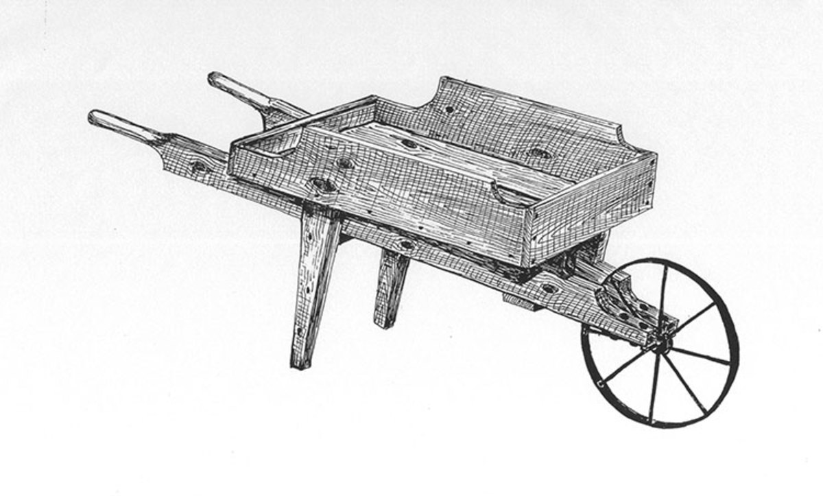 Wooden Wheelbarrow Wheel and Plans