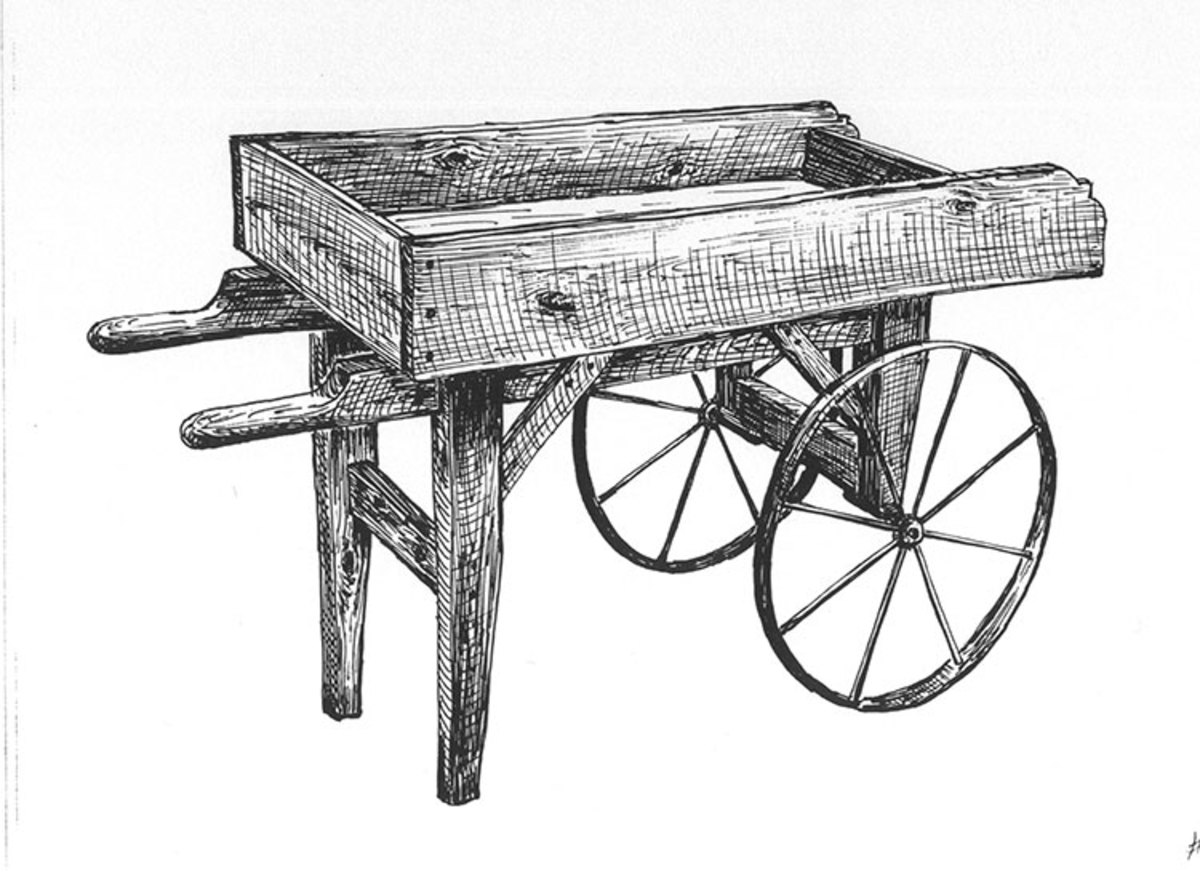 Wooden Vendor Cart Wheels and Plans