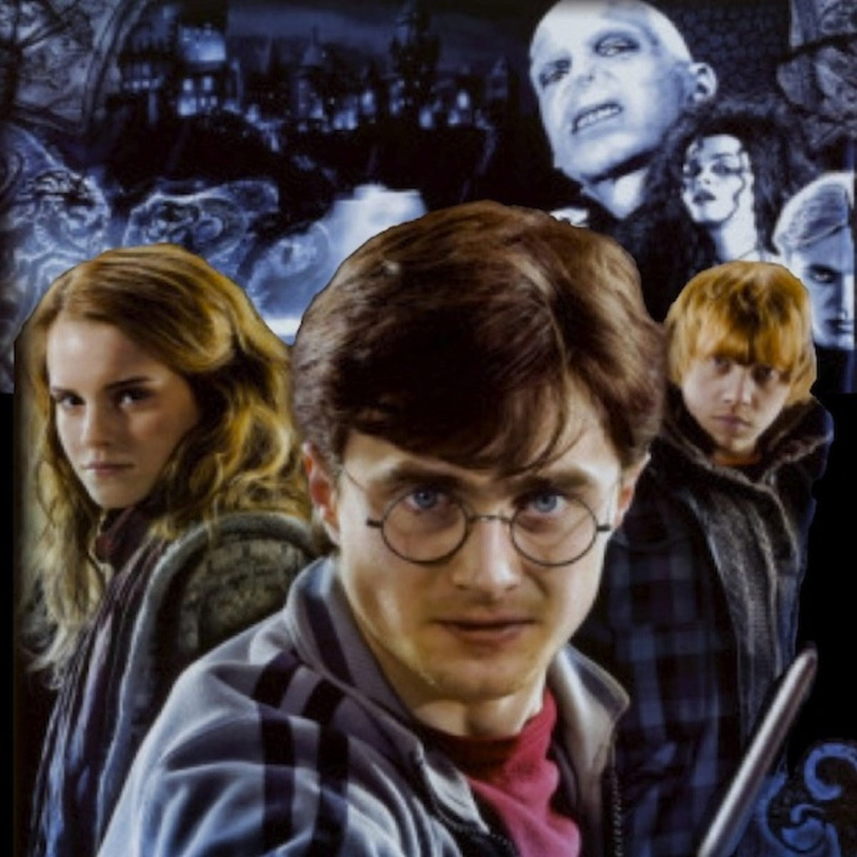 Detail of Deathly Hallows Collage from