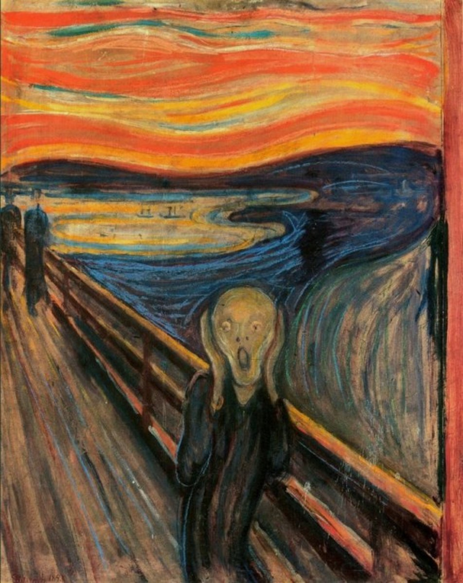 If The Scream was to be captured in the medium of motion art or video, the strong swirls and broiling misc en scene of the work would engulf the audience in a tornado.