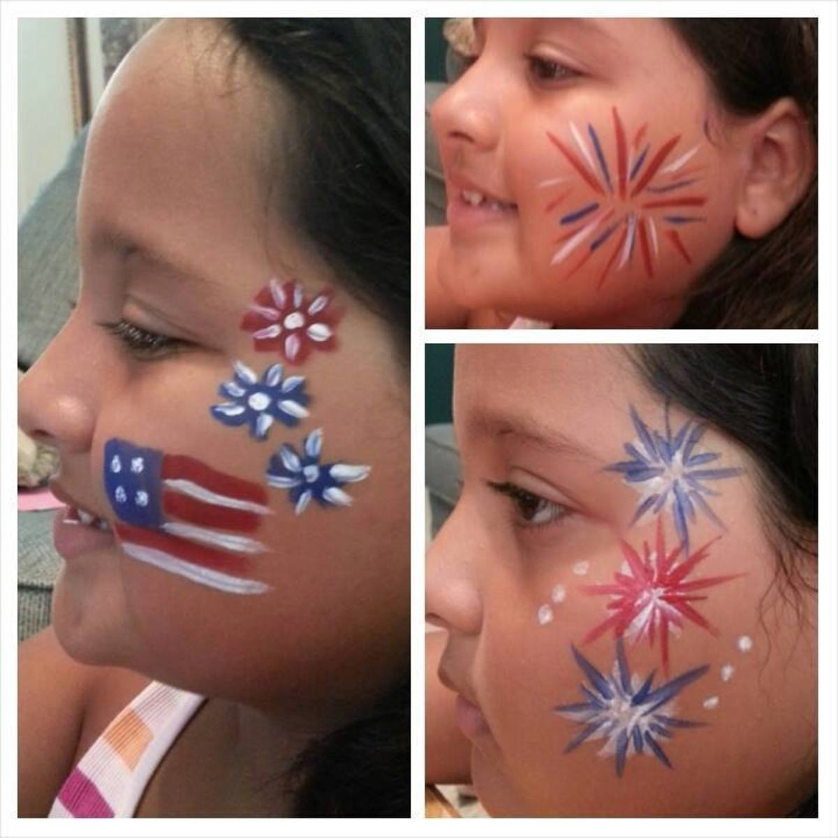 Butterfly Wings Face Painting on Facebook.