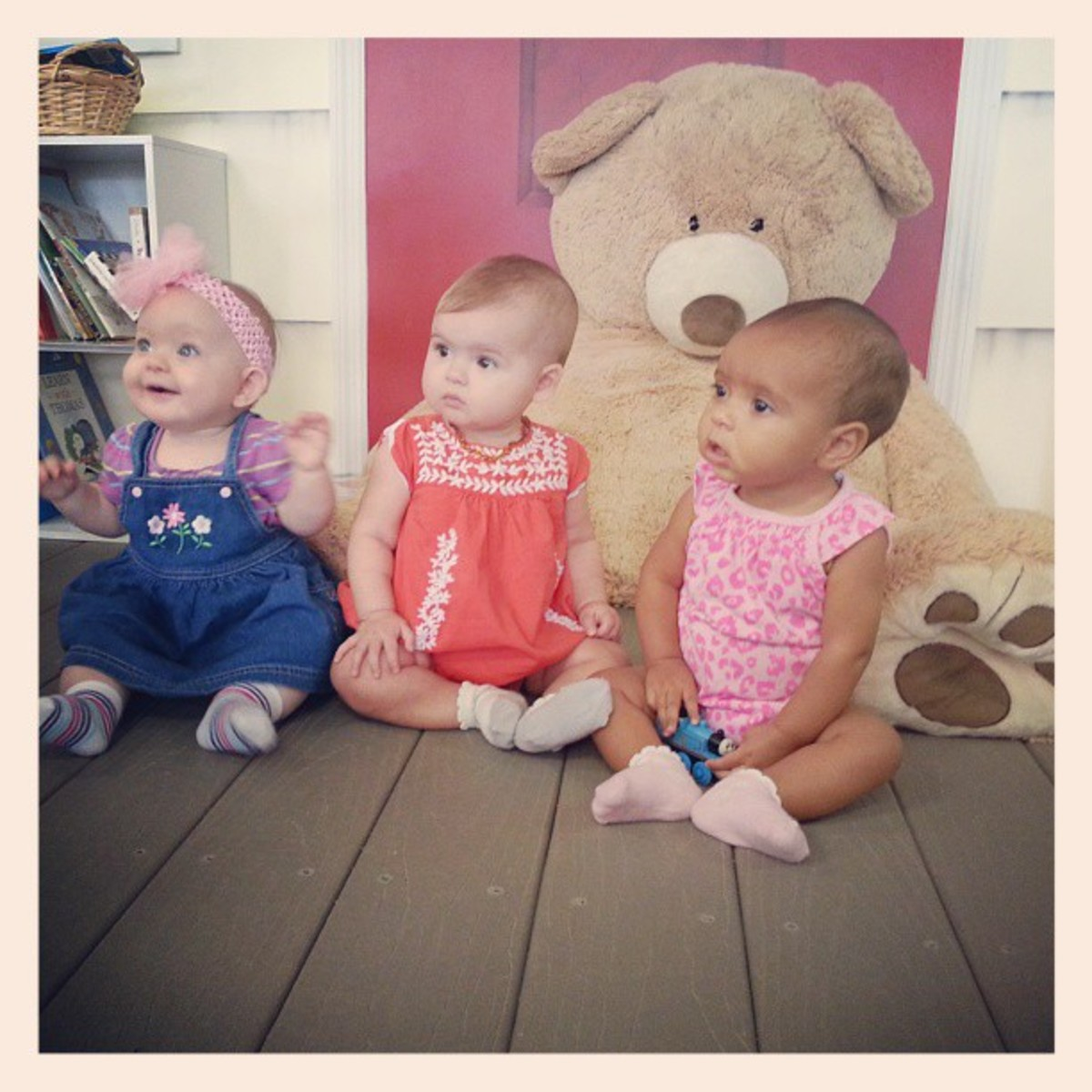 Oct. 2013 ... My granddaughter, Lily, on the right, on a play date with her two friends.
