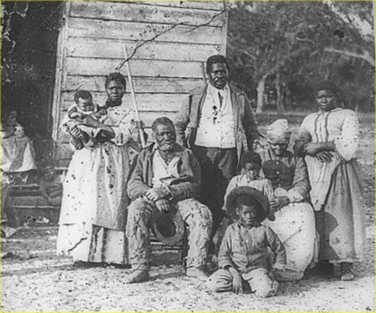Much like this family (circa 1862), Nathan Coker was born into poverty and slavery.
