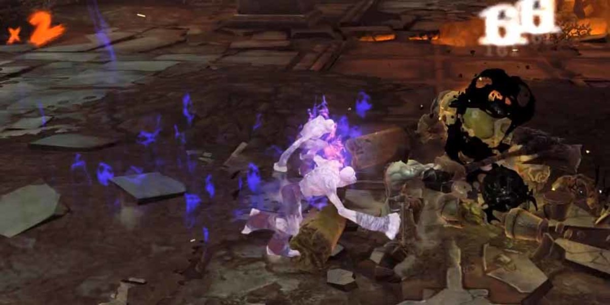 Darksiders 2 Level Up and get more wrath skills -Exhume is shown here.