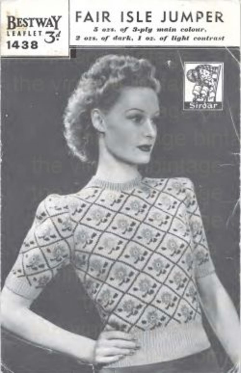 Nothing says war time Britain like a fair Isle jumper.