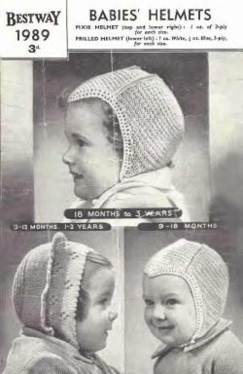 Baby hats from the 1940's