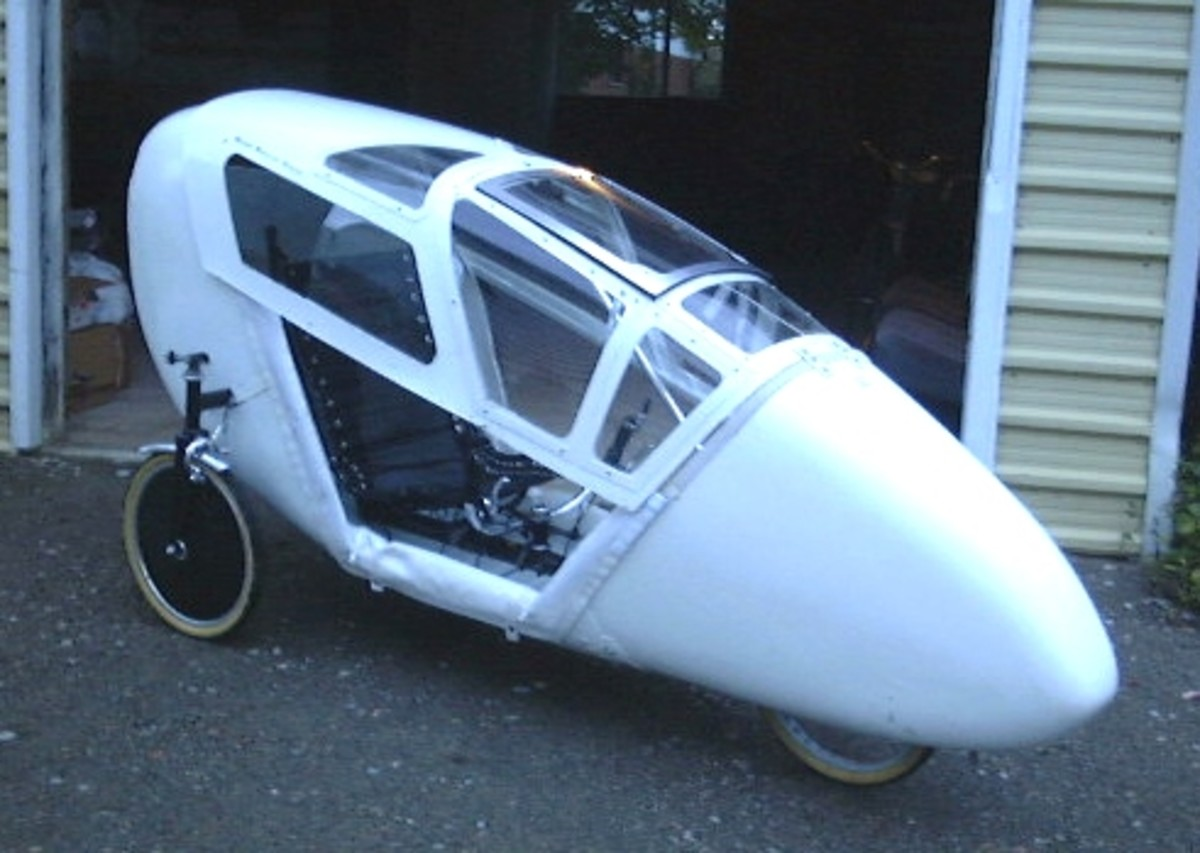 The 2001 Velomobile Test Vehicle.