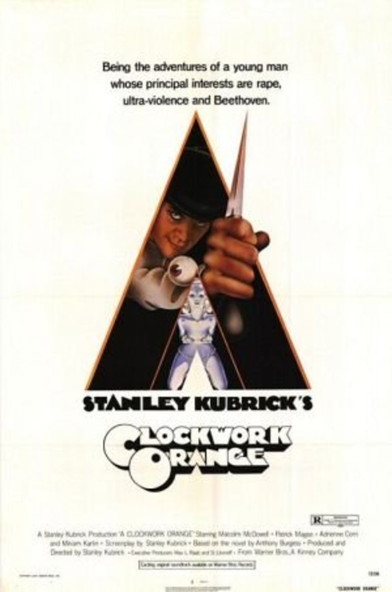 A Clockwork Orange (1971) Directed by: Stanley Kubrick  Starring: Malcolm McDowell, Patrick Magee, Michael Bates