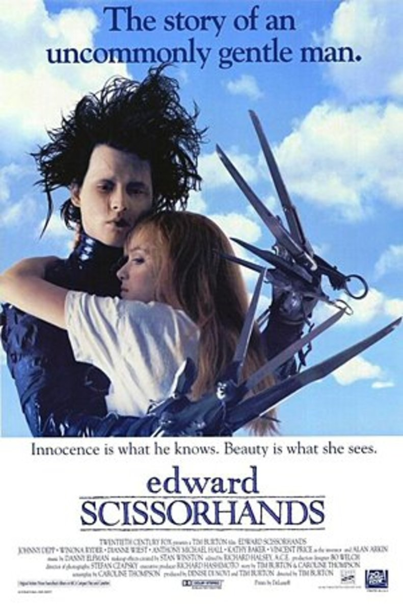 Edward Scissorhands (1990) Directed By: Tim Burton Starring: Johnny Depp, Winona Ryder, Dianne Wiest, Vincent Price