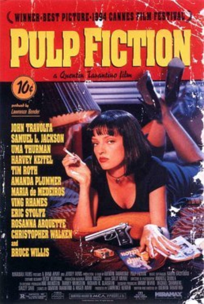 Pulp Fiction (1994) Directed by: Quentin Tarantino Starring: John Travolta, Samuel Jackson, Uma Thurman