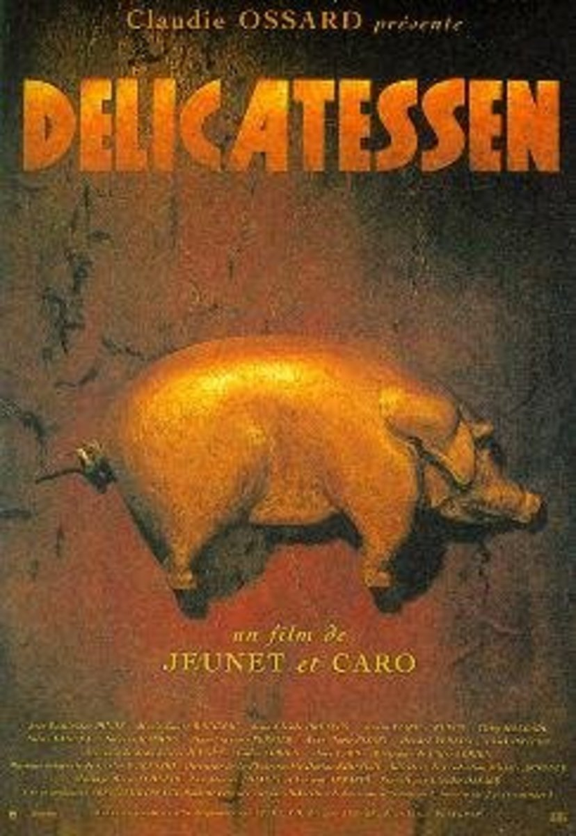 Delicatessen (1991)  Directed by: Jean-Pierre Jeunet Starring: Marc Caro, Dominique Pinon, Karin Viard