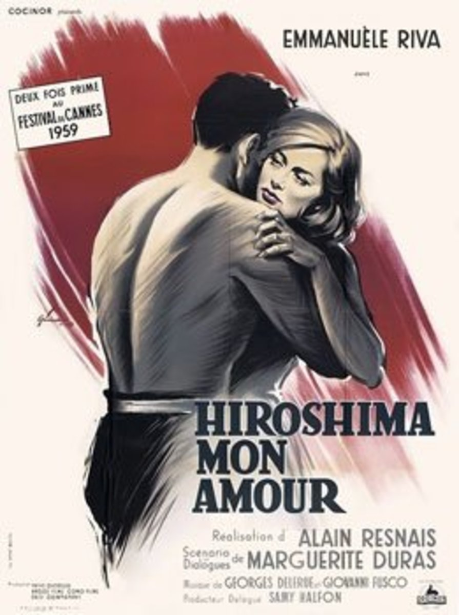 Hiroshima Mon Amour (1959) Directed by: Alain Resnais Starring: Emmanuelle Riva, Eiji Okada, Stella Dassas, Pierre Barbaud